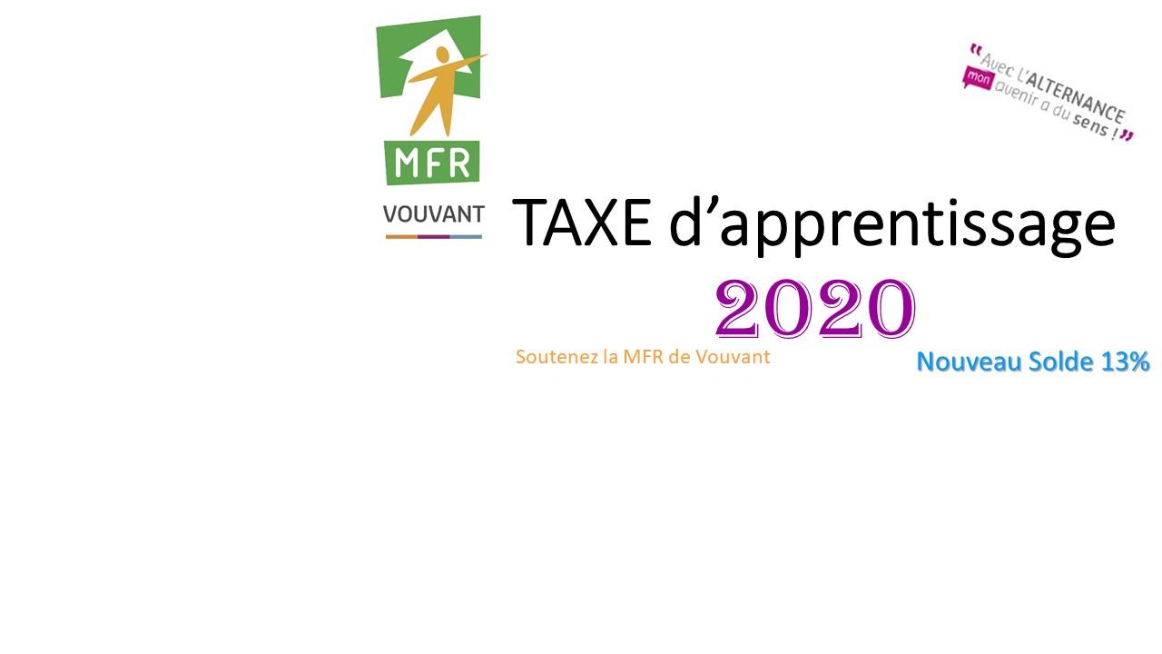 Taxe d'apprentissage 2020